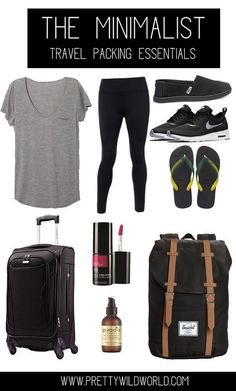 Minimalist Travel Packing Essentials | Carry on | Weekend getaway | Minimalism | Travel Essentials | Ultimate travel list | Packing tips | Travel Packing Carry On
