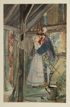 Faust and Margaret in the Summer-House - Faust by Goethe, 1908