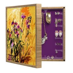 Ginette Fine Art Purple Coneflowers And Butterflies BlingBox Petite | DENY Designs Home Accessories @DENYDesigns #Home #Accessories @GinetteFineArt #Purple #Coneflowers And #Butterflies