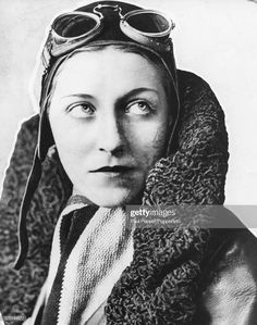 Portrait of English aviator Amy Johnson wearing her flight jacket, cap and goggles, circa Get premium, high resolution news photos at Getty Images Amy Johnson, 1940s Woman, Female Pilot, Aviator Hat, Aviators Women, Great Women, Women In History, Powerful Women, Portrait