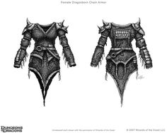 Female Dragonborn Chain Armor (unreleased) Wizards of the Coast Dungeons and Dragons Character Visualizer Art Director: Stacy Longstreet Digital This un. Fantasy Weapons, Fantasy Rpg, Female Dragonborn, Scale Mail, Dungeons And Dragons Characters, Sci Fi Art, Drawing S, Drawing Ideas, Costumes For Women