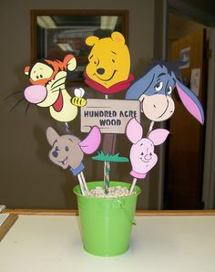 Winnie the Pooh Birthday Party Centerpiece on Sale by CSCuteCrafts