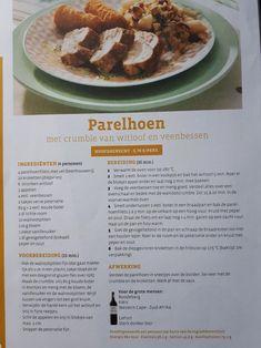 Patelhoen met crumble van witloof en veenbessen Oven, Meat, Food, Eten, Ovens, Meals, Diet
