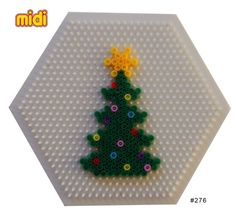 Perler Bead Pattern Disney Characters | Christmas tree Hama midi perler pattern by erica