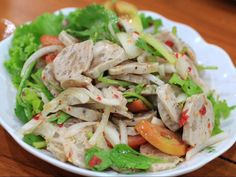 Vietnamese Pork Ham Mixture (Gỏi Chả Lụa) is quite new to you but I just tried this today and it is so so so yummy. Mix w veggie and sweet sour sauce, enjoyyyyy ❤️  Advice from www.vietnamesefood.com.vn
