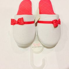 Charter Club Pink Bow Slippers! Super cute pink bow slippers. For those who wanna keep their toes warm right before bed! :) medium size fits 7-8 Charter Club Shoes Slippers