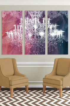 Oliver Gal Ethereal Vision Triptych Canvas Art by Oliver Gal Gallery on @HauteLook