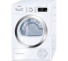 BOSCH WTW87560GB Heat Pump Condenser Tumble Dryer - White
