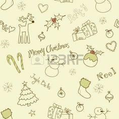 cane: Рождество каракулей. Бесшовные
