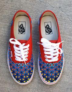 7de8179af5ae60 Sacred Geometry Vans · Painted VansPainted ShoesCustom ...