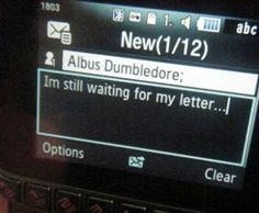 text to Dumbledore @LittleChelseaK