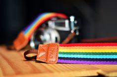 Rainbow Camera Strap by iMoShop on Etsy