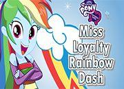 Miss Loyalty Rainbow Dash   juegos my little pony - jugar mi pequeño pony