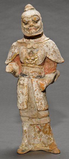 Estátua de guerreiro sob armadura (Arte Chinesa/Dinastia Tang)