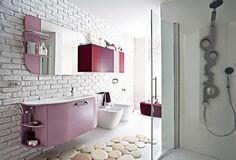contemporary bathroom design with glass shower