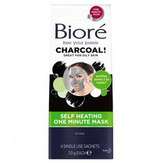 Bioré® Self-Heating One Minute Mask gives you purified pores in just 1 minute. This purifying mask warms to open pores and draw out deep down dirt, oil and impurities, then cools leaving skin tingly smooth and refreshed. You're left with smooth, soft skin & naturally purified pores.
