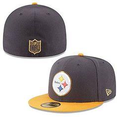 3fd2373e83a NFL Pittsburgh Steelers On Field Head Gear 5950 New Era Baseball Cap Size 7  3 8