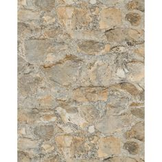 York Wallcoverings 57.75 sq. ft. Weathered Finishes Field Stone Wallpaper-PA130904 - The Home Depot