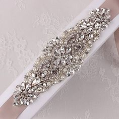 Beaded Applique with Rhinestones and Pearls for Wedding Sash or Head PieceSliver1 Piece612in * Continue to the product at the image link.Note:It is affiliate link to Amazon.