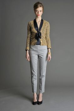 So easy and chic! This is why I love tapered ankle length pants. From Banana Republic's Mad Men Collection fall 2011.