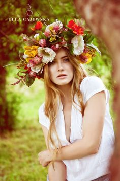 OVERSIZED FLORAL CROWN Fabric Flowers by EllaGajewskaHATS on Etsy, £149.00