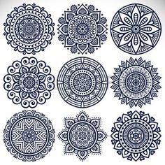 Ornement belle carte avec mandala. Élément de cercle géométrique faite dans le vecteur. Banque d'images - 44037735