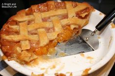 All year long I look forward to fresh peaches and peach pie in the fall. This is a tried-and-true recipe from my Better Homes and Gardens cookbook.
