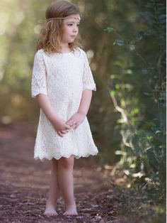 Lace Country Rustic Flower Girl Dresses – Country Couture Company