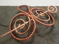Hair clip, barrette or hair jewelry - by Abby Hook on Etsy.  So pretty with beads!