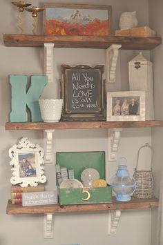 Little Gray Table: Rustic Shelves Tutorial