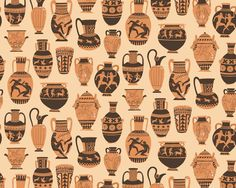 Risultati immagini per ancient greek vase shapes Seed Illustration, Illustrations, Ancient Greek Art, Ancient Greece, Greek Pattern, Pottery Patterns, Greek Design, Roman Art, Greek Mythology