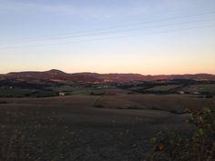 Ottobre: tramonto sui campi