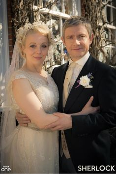 The wedding of Dr John Watson and Mary Morstan. (via BBC One's twitter)