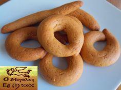 Greek Cookies, Cake Cookies, Greek Recipes, Bagel, Sausage, Flora, Deserts, Food And Drink, Menu