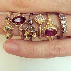 A collection of jewels, rich deep hues and granulated detail #midascollection #hoardcollection http://ruthtomlinson.com/collections/midas