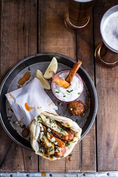 do-not-touch-my-food:  Buffalo Falafel Pitas with Garlic Blue...
