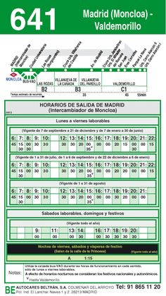 autobus madrid valdemorillo 641 ida #MUN2asociacion