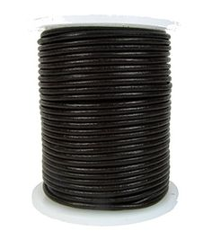 Round Leather Cord, 2.0 millimeter Dark Brown, 25 Meter Spool >>> You can get more details at http://www.laminatepanel.com/store/round-leather-cord-2-0-millimeter-dark-brown-25-meter-spool/?de=250616233053