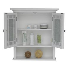 Sauder Caraway Wall Cabinet, Soft White | Medicine, Cas and Walmart