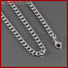 6MM 30` STAINLESS STEEL LONG CURB CHAIN NECKLACE N1015C