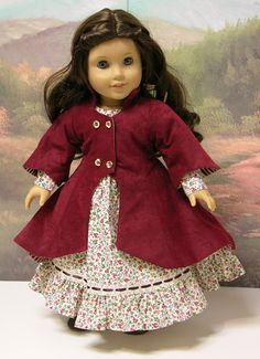 Victorian Bouquet Dress and coat for American by cupcakecutiepie, $98.00