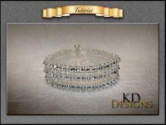 3 Strand Tennis bracelet by KDDesignsbyKDevine on Etsy