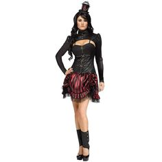 Adult Steampunk Sally Sexy Costume ($60) ❤ liked on Polyvore featuring costumes, halloween costumes, multicolor, steam punk costume, adult halloween costumes, black costume, sally nightmare before christmas costume and sexy adult costumes