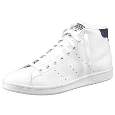 Sneakers Stan Smith Mid adidas Originals homme - Blanc / bleu- Vue 1
