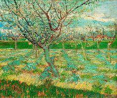 Vincent van Gogh - Blühender Obstgarten mit Aprikosenbäumen