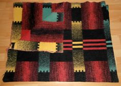 vintage blanket with label First Quality