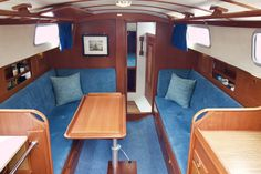 For Sale 1976 version of this popular no-nonsense sturdy long distance cruiser from Hallberg-Rassy. Aquarius has been upgraded with new engine, spray hood, anchor and much more! I Cool, Cool Stuff, New Engine, Bunk Beds, Aquarius, Furniture, Home Decor, Goldfish Bowl, Aquarium