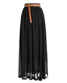 Women's Pleated Chiffon Double Layer Retro Elastic Waist Maxi Dress $13.99