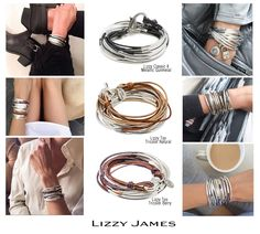 A Classic design personalized for your style! Explore our Lizzy Classic deigns & choose your leather color(s).  http://lizzyjames.com/products/lizzy-too-6-strand-wrap-bracelet-necklace #LizzyJamesInc