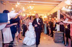 sparklers, wedding exit, yacht club wedding, evening reception, bride and groom, wedding day, acworth wedding reception, georgia photographer :: Caroline + Mike's Wedding at The Atlanta Yacht Club in Acworth, GA :: with Anna